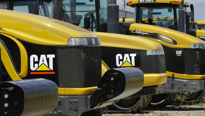 Caterpillar earth-moving tractors and equipment in Clinton, Ill.