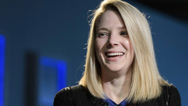 Yahoo CEO Marissa Mayer attends the Annual Meeting of the World Economic Forum in Davos, Switzerland last Friday.