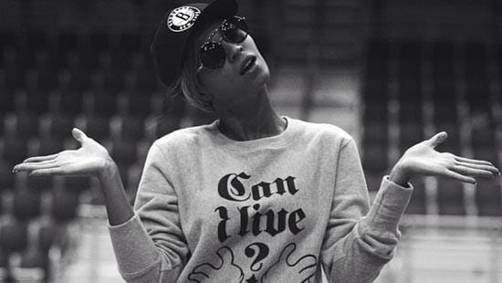 What do you think Beyonce's trying to say with her shirt?