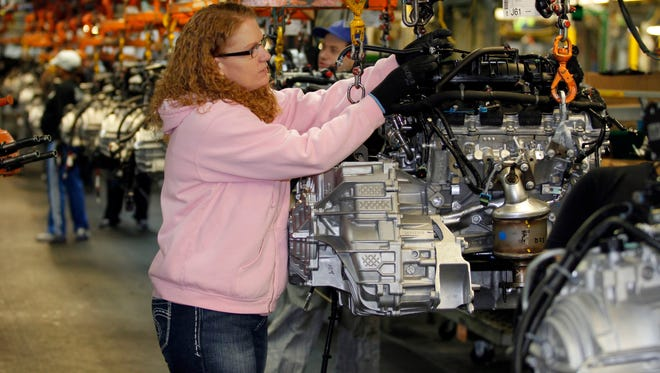 Tina Knudson works in engine assembly at the General Motors Fairfax Assembly and Stamping Plant