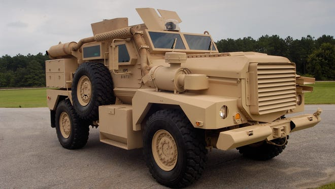 The Cougar is one of the military's largest MRAPs and often stays on larger roads.