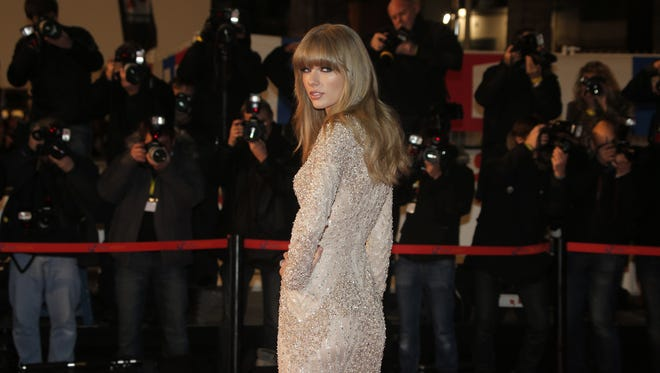 Taylor Swift hits the red carpet at the NRJ Music awards ceremony on Saturday in Cannes, France.