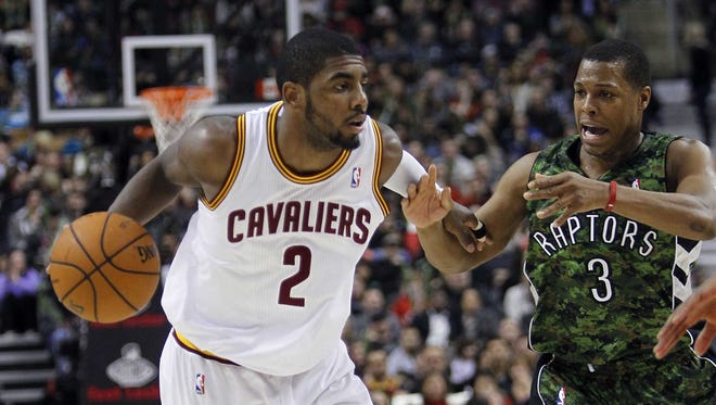 Cleveland Cavaliers guard Kyrie Irving (2) was named the Eastern Conference player of the week.