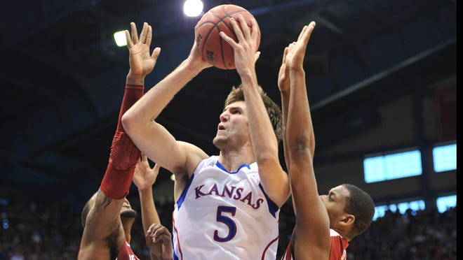 Center Jeff Withey and Kansas have risen above the rest to be No. 1 this week in the USA TODAY Sports Coaches Poll.