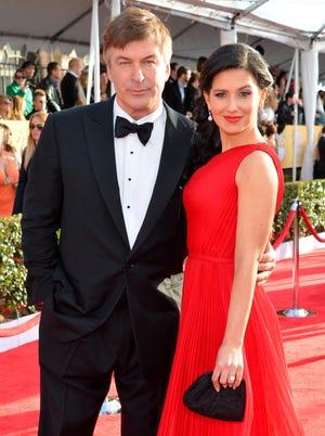 Alec Baldwin and  wife Hilaria Thomas at the SAG Awards Jan. 27.