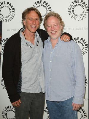 Timothy Busfield (r) with Peter Horton of 'thirtysomething' in 2009.