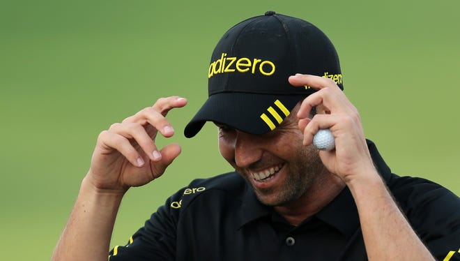 Sergio Garcia could move back into the top 10 in the world rankings if he wins this week.