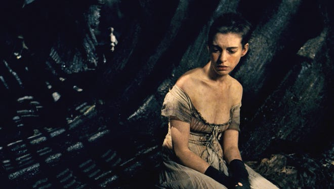 Anne Hathaway as Fantine in a scene from 'Les Miserables.'
