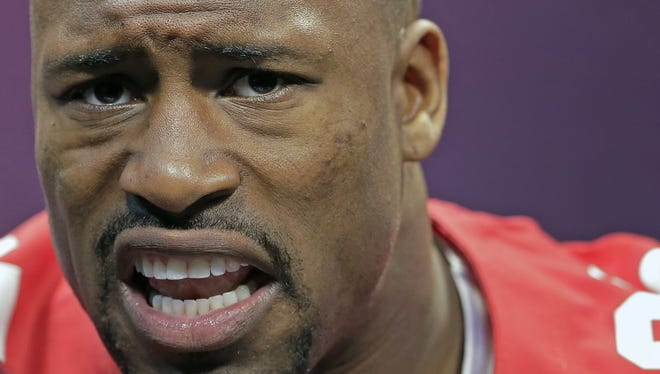 49ers tight end Vernon Davis had five catches for 106 yards a touchdown in NFC Championship Game after recording just seven catches in the previous seven games.