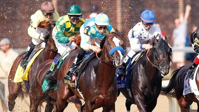 You can watch live horse racing action from any track in the country.