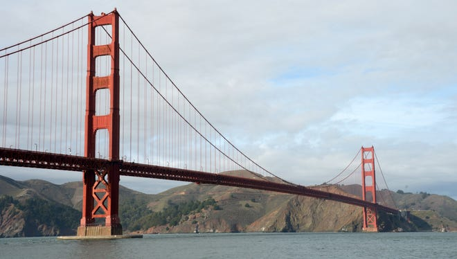 A view of the Golden Gate bridge before a San Francisco 49ers game earlier this season.