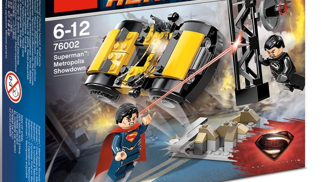 """The LEGO """"Metropolis Showdown"""" is one of several sets tied to the opening of the movie """"Man of Steel"""" this June."""