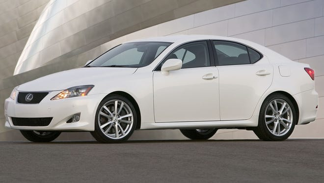 The 2006 Lexus IS 350 is one of the vehicles being recalled.