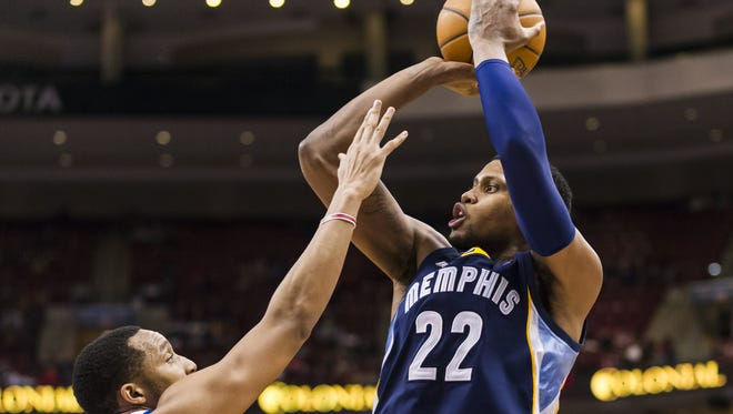 Memphis Grizzlies forward Rudy Gay (22) has been traded to Toronto.