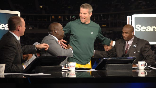 Brett Favre won't be making his first visit to an NFL Network set.