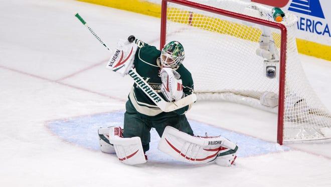 Minnesota Wild goalie Niklas Backstrom stopped every shot he faced in relief of Josh Harding.