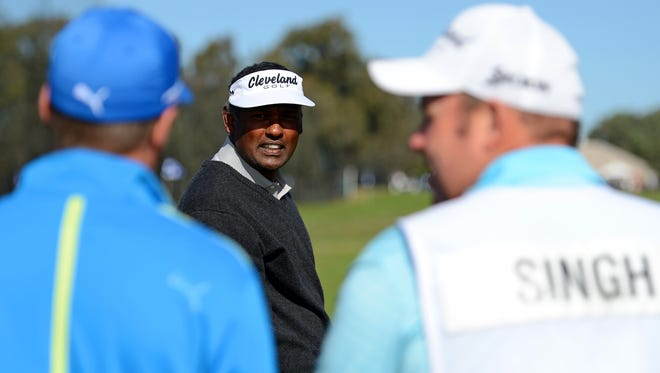 Vijay Singh withdrew from the Waste Management Phoenix Open citing a back inuury.