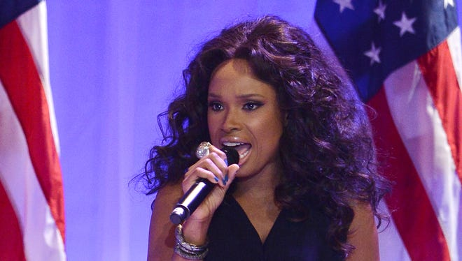 Jennifer Hudson performs at the Inaugural Ball in Washington, D.C. earlier this month.
