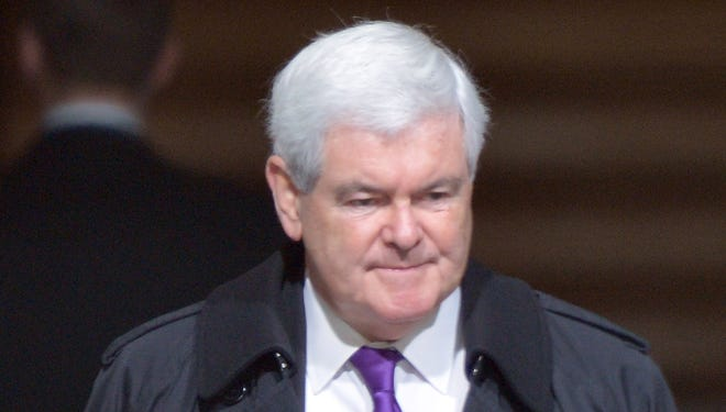 Former House speaker Newt Gingrich attends the presidential inauguration on Jan. 21.