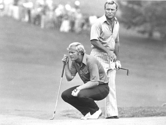 The two golfing legends of their era, Jack Nicklaus and Arnold Palmer