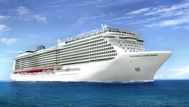 An artist rendering of the Norwegian Getaway cruise ship.