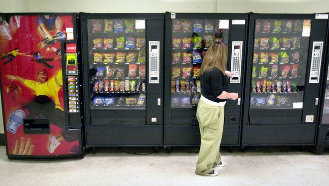 The government released standards for snacks sold in school vending machines.