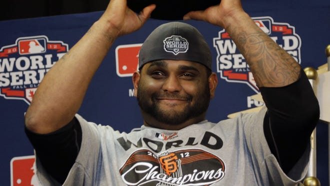 Pablo Sandoval, who was named the World Series MVP, hit three home runs in Game 1 of the series.