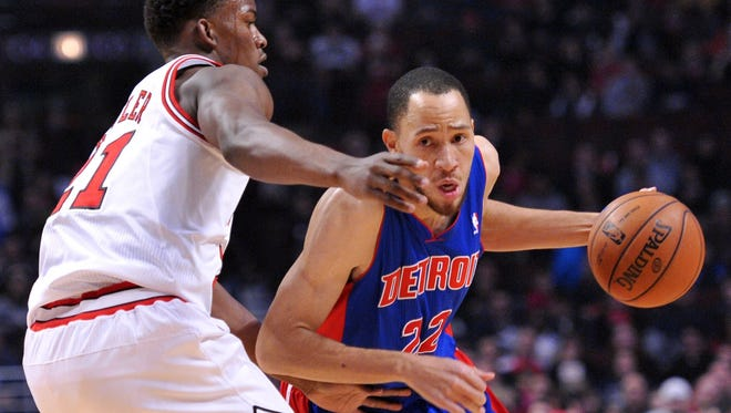 Detroit Pistons small forward Tayshaun Prince (22) was part of a trade on Wednesday that sent him to Memphis.