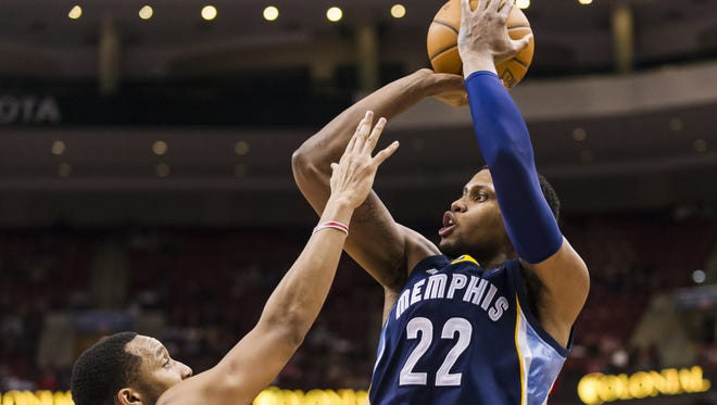 Forward Rudy Gay led the Memphis Grizzlies in scoring at 17.2 points per game before he was dealt to Toronto on Wednesday as part of a three-way trade.