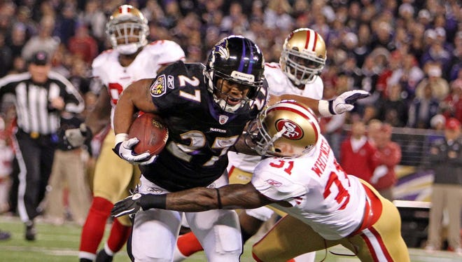 Stopping Ravens RB Ray Rice could be a major key for the 49ers on Sunday if they're to win Super Bowl XLVII.
