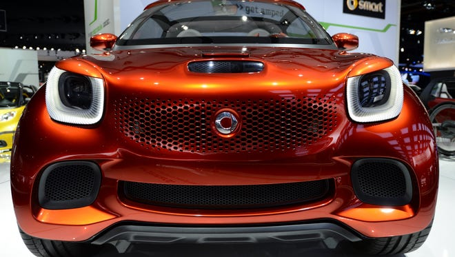 The Smart ForStars electric concept car points to the next design of the Smart ForTwo.