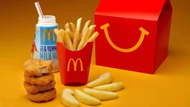 A McDonald's Happy Meal with chicken nuggets. The chain is now offering Fish McBites.