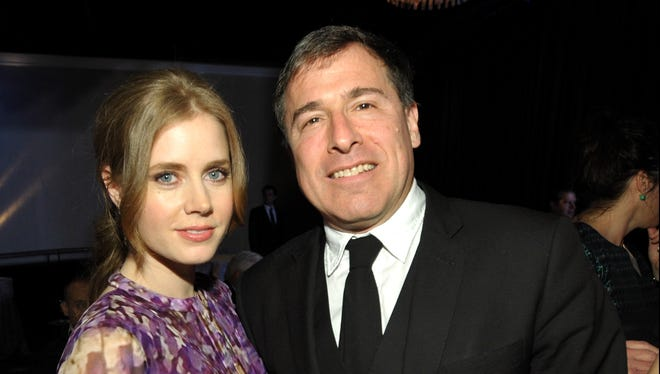 Oscar nominees Amy Adams and David O. Russell at Monday's Academy Awards Nominees Luncheon.