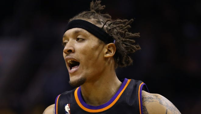 Phoenix Suns forward Michael Beasley (0) was cited in Scottsdale, Ariz. for several traffic issues.