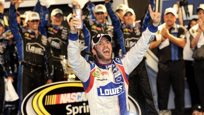Five-time champion Jimmie Johnson's 2012 driver rating of 109.5 was easily the best in Sprint Cup.