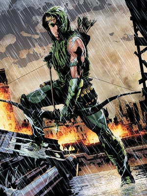 "The new issue of ""Green Arrow"" feature the debut of a new creative team, writer Jeff Lemire and artist Andrea Sorrentino."