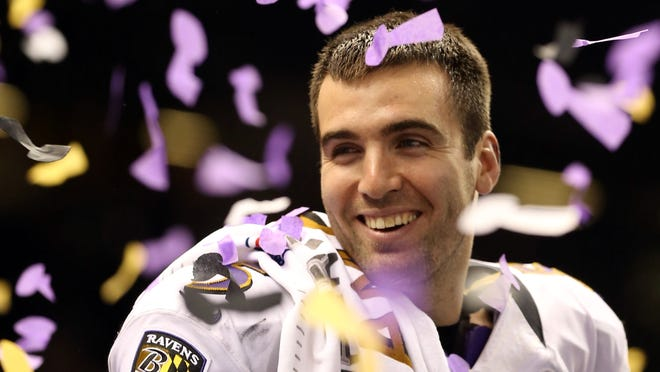 Baltimore Ravens quarterback Joe Flacco has reason to be smiling after defeating the San Francisco 49ers in Super Bowl XLVII. Flacco is expected to get a big payday off his Super Bowl MVP performance.