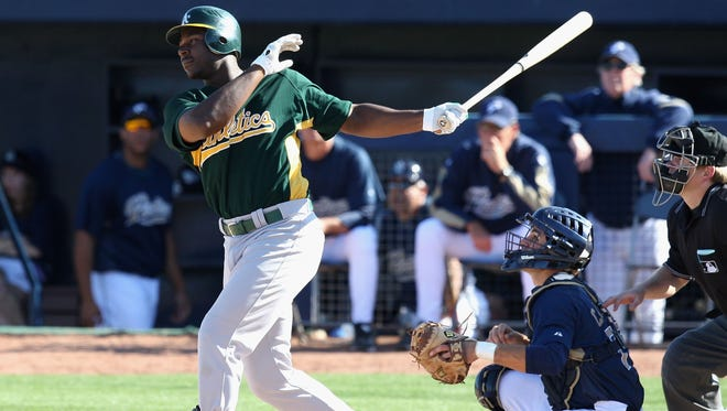 Chris Carter hit 16 home runs with a .514 slugging percentage last season as a member of the Oakland A's.