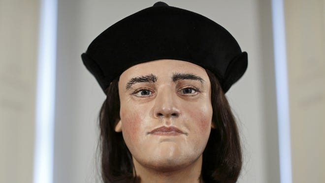 A facial model made from the recently discovered skull of England's King Richard III.
