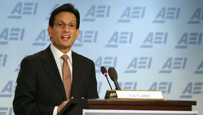 House Majority Leader Eric Cantor, R-Va., outlines the GOP agenda at the American Enterprise Institute.