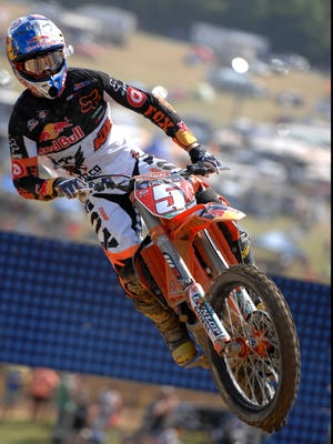 Ryan Dungey, shown here on June 9, 2012, won his 12th career 450SX Class race Saturday in Anaheim, Calif.