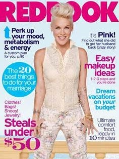 Pink poses for the March issue of 'Redbook' mag.