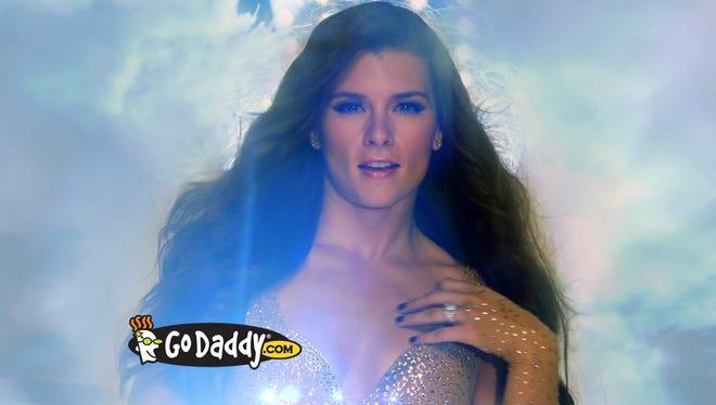 A 2012 GoDaddy Super Bowl ad features race car driver Danica Patrick.