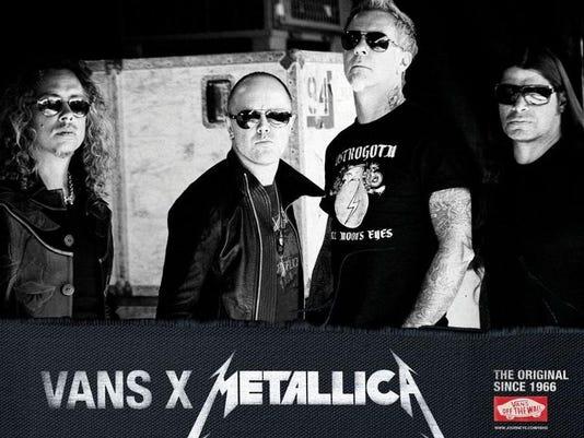 Metallica puts its best foot forward: Customized Vans