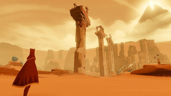 A scene from the PlayStation 3 title 'Journey.'