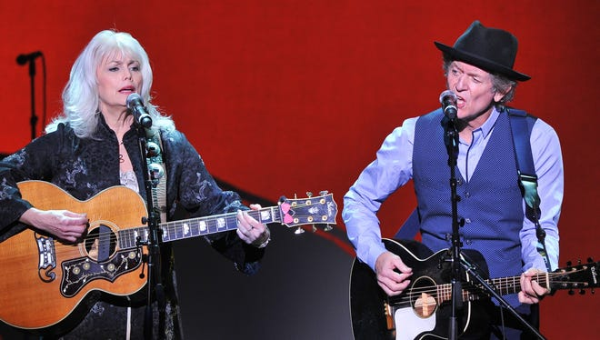 Emmylou Harris and Rodney Crowell have reunited on the new album 'Old Yellow Moon.'