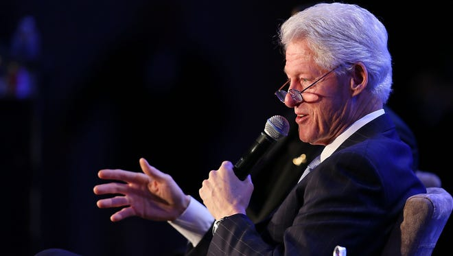 Former president Bill Clinton attends an event in Los Angeles on Thursday.