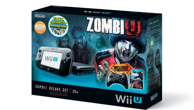 The Nintendo Wii U bundle featuring horror title 'ZombiU.'