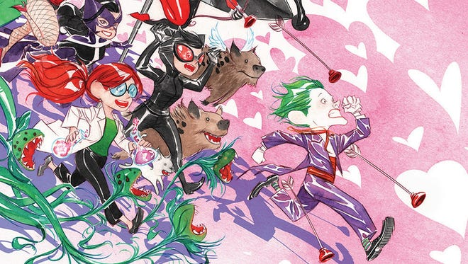 """How you know that the digital comic """"Batman: Li'L Gotham"""" is fun: The Joker of all people stars in a Valentine's Day chapter, available Sunday."""