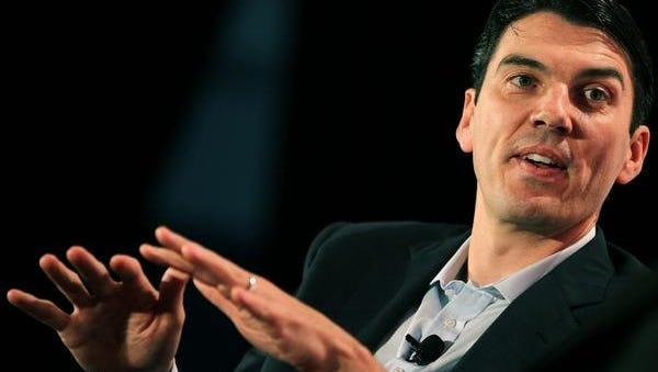 AOL CEO Tim Armstrong speaks at the TechCrunch Disrupt Conference in May 2010.